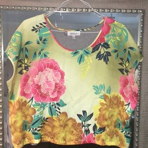 Bright and colorful floral blouse